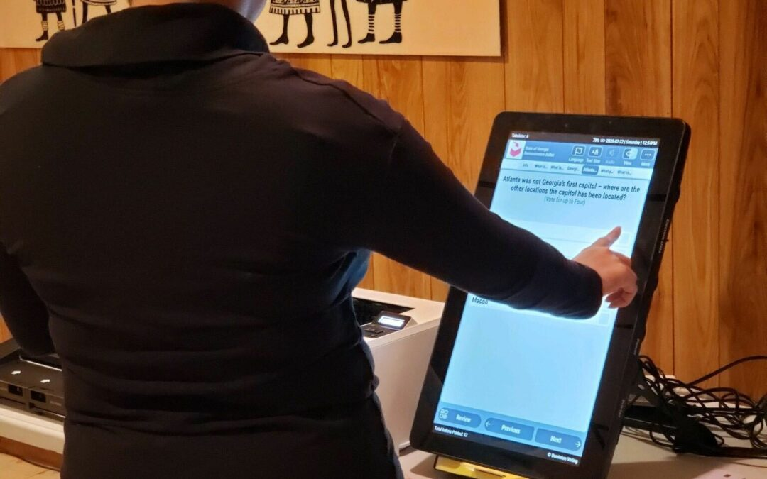 How to use Georgia's New Voting Machines